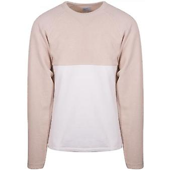 Les Basics Biege & White Le Ribless Sweat