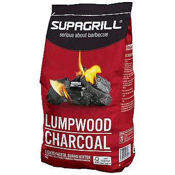 4kg Supagrill Lumpwood Charcoal BBQ Garden Grill Barbaque Camping Food