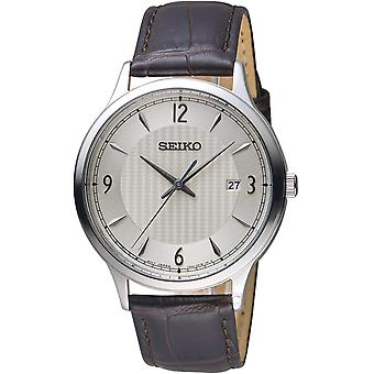 Seiko Quartz Watch SGEH83P1 - Lederen Heren Quartz Analoog