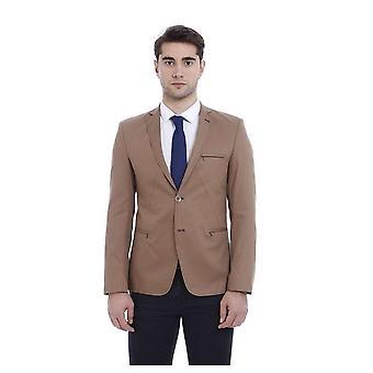 Pockets zippered light  brown blazer mocels