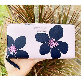 Kate spade cameron grand flora neda large continental wallet serendipity pink