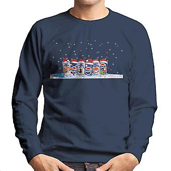 Pepsi Retro 90s Christmas Cans Men's Sweatshirt