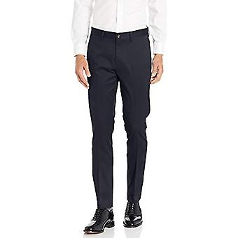Brand - Buttoned Down Men's Skinny Fit Non-Iron Dress Chino Pant, Navy 33W x 28L