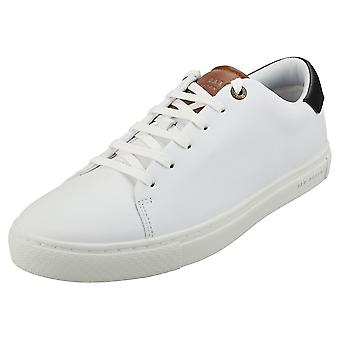 Ted Baker Leepow Mens Casual Trainers in White Tan