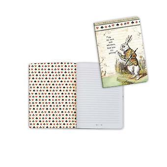 Stamperia دفتر A6 أليس الأرنب الأبيض