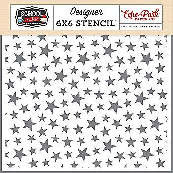 Эхо Парк Звезда Студент 6x6 Inch Stencil
