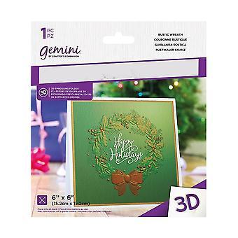 Gemini Rustic Wreath 3D Embossing Folder
