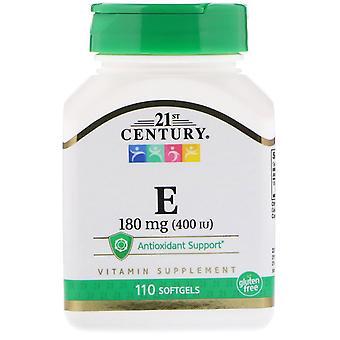 21ème siècle, vitamine E, 180 mg (400 UI), 110 Softgels
