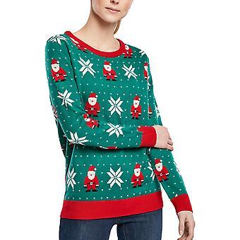Urban Classics Ladies - Santa Christmas Sweater green