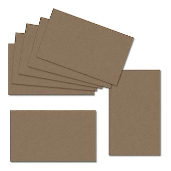 Fleck Manilla. 123mm x 246mm. Small Square. 280gsm Folded Card Blank.
