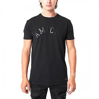 Amicci Sora Black Crew Neck T-shirt