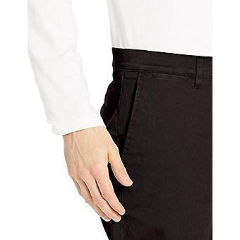 Brand - Goodthreads Men's Athletic-Fit Washed Comfort Stretch Chino Pant, Black, 42W x 34L