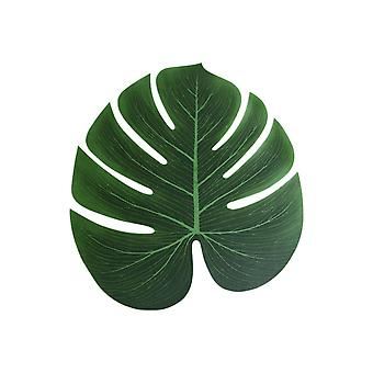 10PCS Artificiale Tropicale Palm Leaf Monstera Falso Foglia Verde Grande