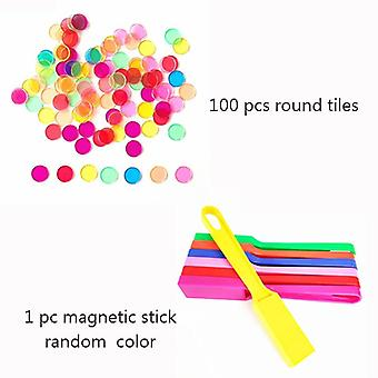 Montessori Learning Toys Magnetic Stick Wand Set With Transparent Color