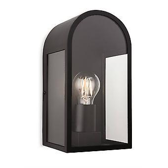 1 Lichte Buitenmuur Lantaarn Zwart IP44, E27