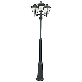 Outdoor Triple Lamp Post, E27