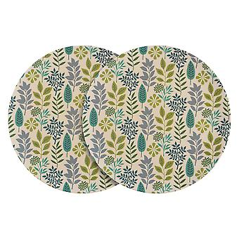 نيكولا الربيع 6 قطعة صديقة للبيئة الخيزران لوحات العشاء مجموعة - 25.5cm - ورقة