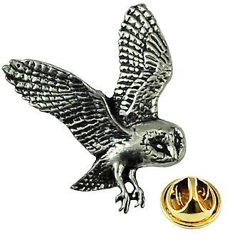Ties Planet Barn Owl Engels Pewter Revers Pin Badge