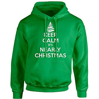 Keep Calm It's Nearly Christmas Xmas Unisex Hoodie 10 Colours (S-5XL) by swagwear