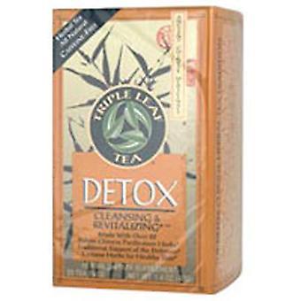Kolmen lehden tee detox teetä, 20 pussia