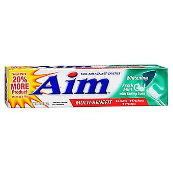 Aim Whitening Anticavity Fluorid Zahnpasta Gel frische Minze, 5,5 Oz