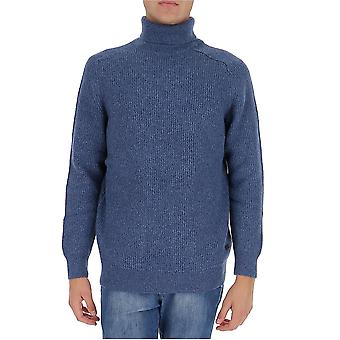 Barbour Mkn1256bl77 Men's Blue Wool Sweater