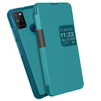 Back cover for Wiko View 5/5 Plus Flip Translucent Touch Smart - Blue