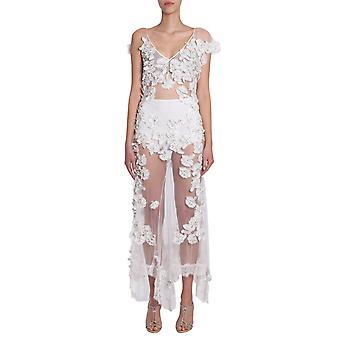 Amen Couture Acs18510cs18006121 Women's White Nylon Dress