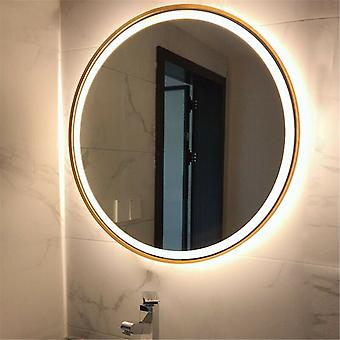 500mm Round Led Illuminated Bathroom Mirror Demister Dimmable Touch Sensor Ip44