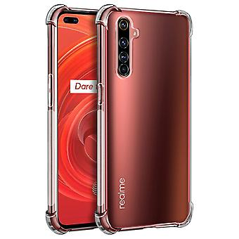 Back cover for Realme X50 Pro Flexible Case with Bumper Corners - Transparent