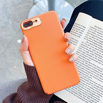 For iPhone 8 Plus / 7 Plus All-Inclusive Pure Prime Skin Plastic Case med linseringbeskyttelsesdeksel (oransje)