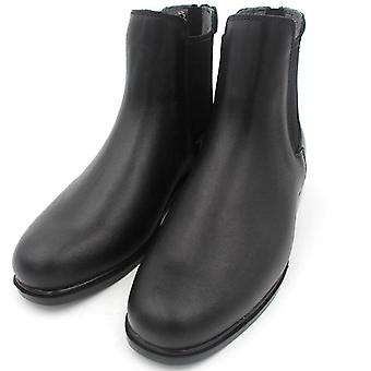 Full Leather Horse Riding Boots - Men Women Back Zipper Shoes