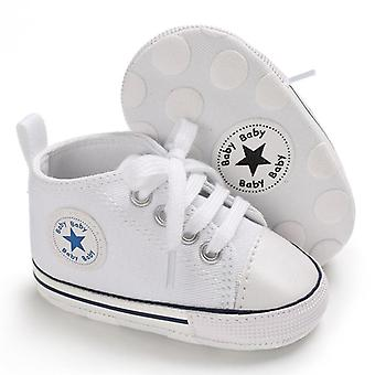 Newborn Baby Print Star First Walkers Anti-slip Canvas Classic Sports Sneakers