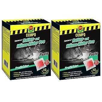 Sparset: 2 x COMPO Cumarax® rotta ja hiiret syöttiVät Pro, 480 g