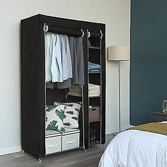 Wardrobe Closet Furniture Fabric Wardrobe Zipper Folding Cloth Storage Cabinet