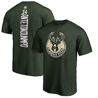 Milwaukee Bucks No.34 Basketball T-shirt Sports Top DXG005