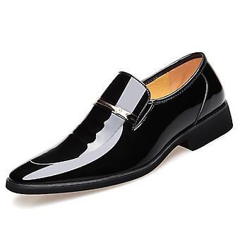 Leather Shoes Slip On Fashion Men Glitter Shoes