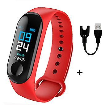 M3 Fitness náramok vodotesný Smart Watch Band Tracker Sport, krokomer srdce