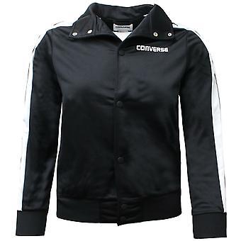 Converse Junior Boys Heritage Snap Front Warmup Bomber Jacket Black 968017 023