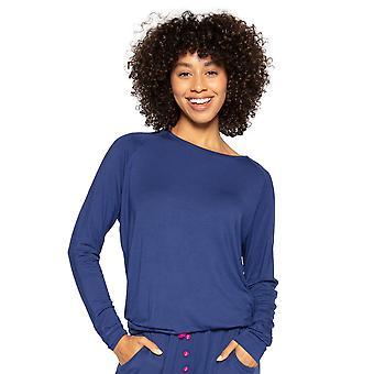 Cyberjammies Ariana 4725 Naiset's Navy Blue Modal Pyjama Top