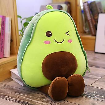 Cute 3d Avocado Stuffed Plush Toy Cartoon Fruit Pillow Sofa Cushion Doll