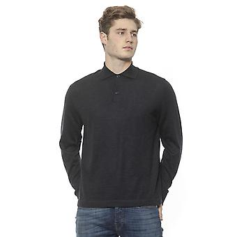 Long-sleeved Polo Anthracite Billionaire man