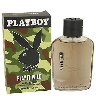 Playboy Play It Wild by Playboy Eau De Toilette Spray 3.4 oz / 100 ml (Men)