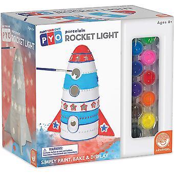 Mindware - paint your own porcelain rocket light
