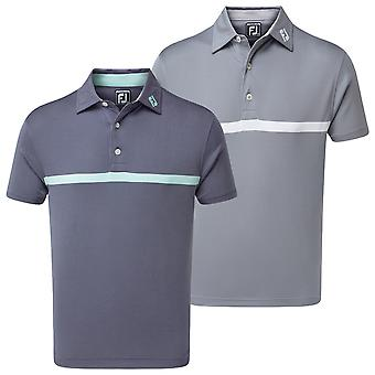 Footjoy Mens Eng Nailhead Jaquard Moisture Wicking Golf Polo Shirt