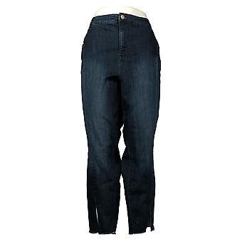 Isaac Mizrahi Live! Jeans donna 24 VERO DENIM W/Frontale Fessura Blu A352951