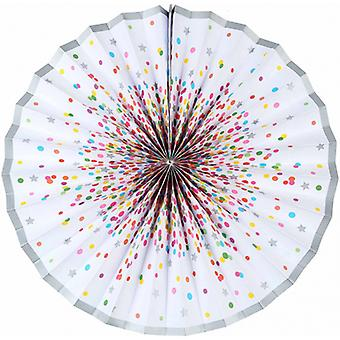 Honeycomb Fan Confetti 45 Cm Foil