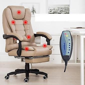 Office Chair Rotatable Lift With Footrest Reclining, Best Nylon Feet Pu Leather