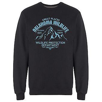 Great Places Oklahoma Sports Sweatshirt Men's -Image by Shutterstock