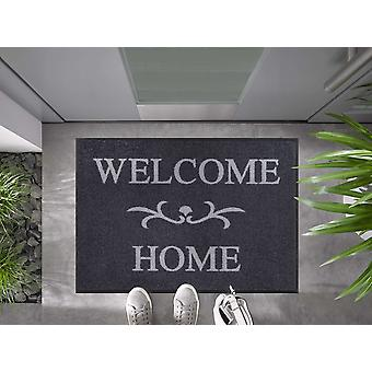 Welcome Home anthracite 60 x 85 cm tapis de pied lavable wash+dry